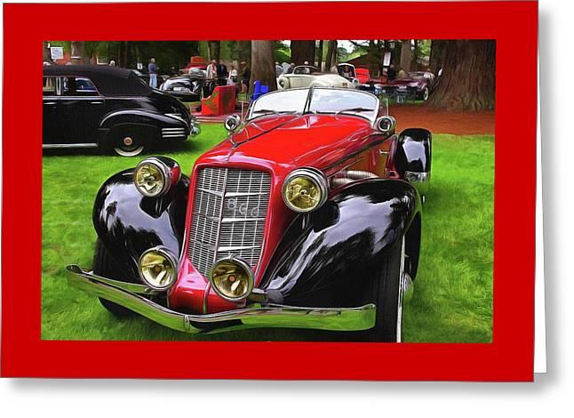 1935 Auburn Speedster 866 Greeting Card by Thom Zehrfeld