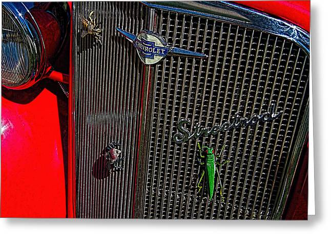 1935 Chevrolet Grill Greeting Card