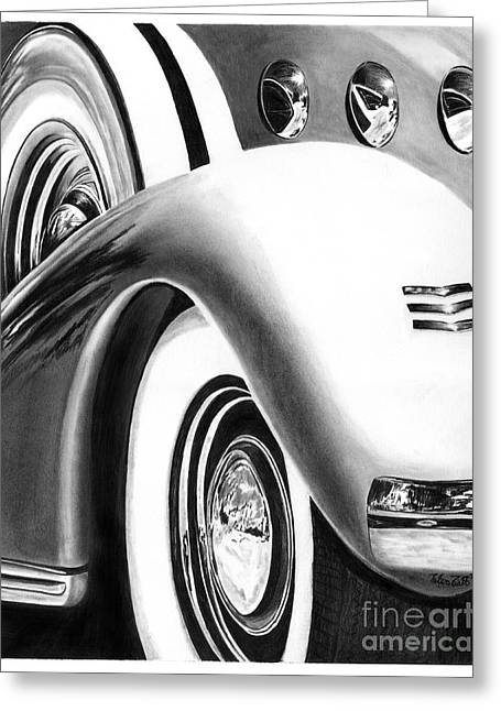 1935 Lasalle Abstract Greeting Card