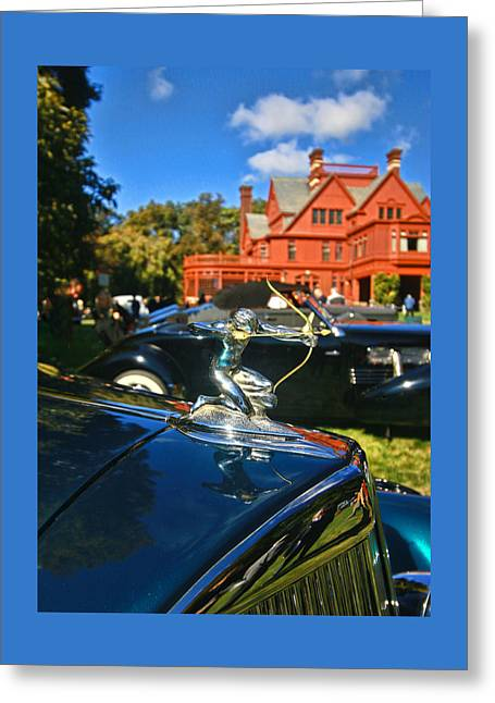 1935 Pierce Arrow V - 12 Convertible Coupe Hood Ornament Greeting Card by Allen Beatty