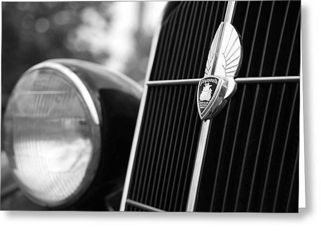 1935 Plymouth Emblem - Chrysler Motors Product Greeting Card by Gordon Dean II