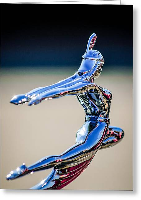 1935 Pontiac Hood Ornament 1 Greeting Card by Jill Reger