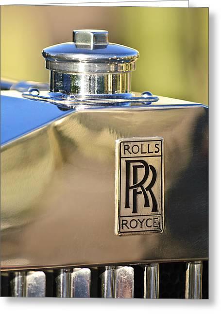 Car Mascot Greeting Cards - 1935 Rolls-Royce Phantom II Hood Ornament Greeting Card by Jill Reger