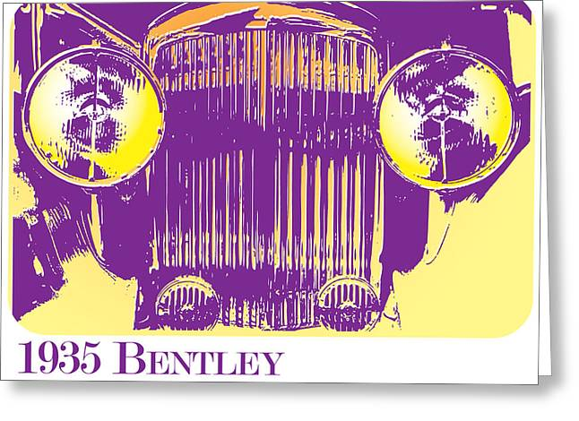 1935 Bentley Greeting Card by Greg Joens