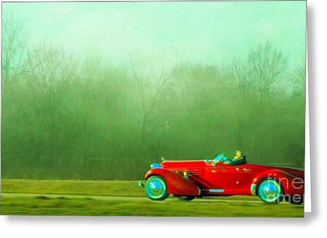 1936 Auburn Speedster Greeting Card