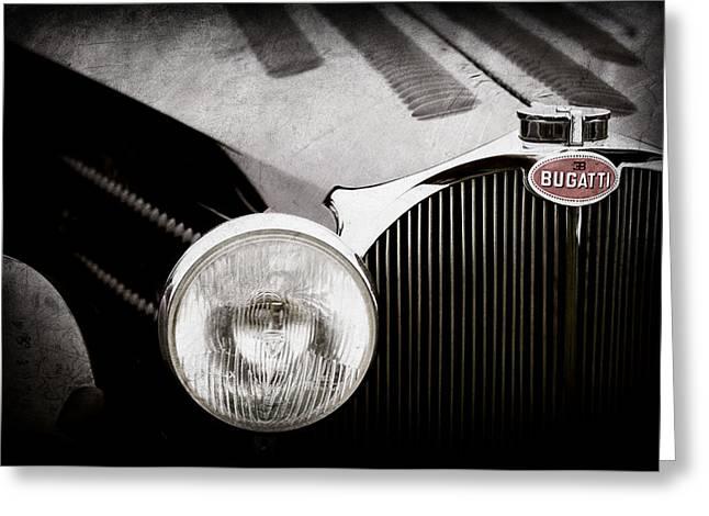 1936 Bugatti Type 57s Corsica Tourer Grille Emblem -1673ac Greeting Card by Jill Reger