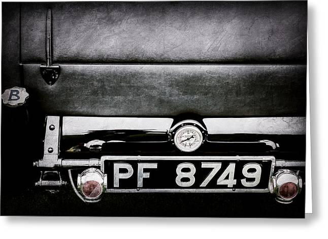 1936 Bugatti Type 57s Corsica Tourer License Plate -0067ac Greeting Card by Jill Reger
