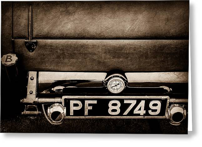 1936 Bugatti Type 57s Corsica Tourer License Plate -0067s Greeting Card by Jill Reger