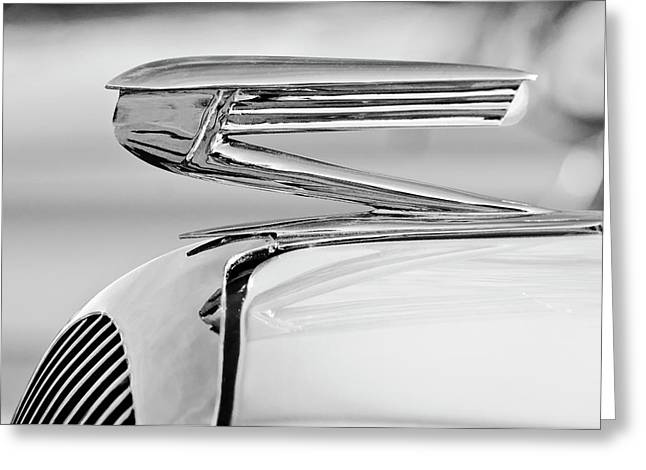 1936 Buick 40 Series Hood Ornament 2 Greeting Card by Jill Reger