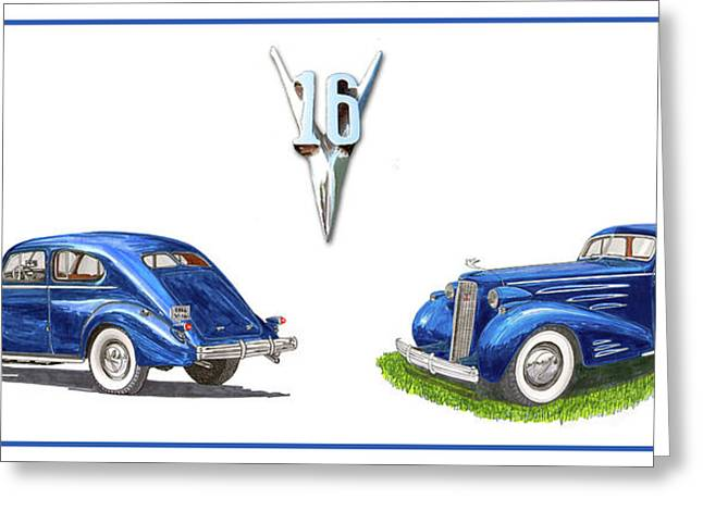 1936 Cadillac Aerodynamic Coupe Greeting Card by Jack Pumphrey