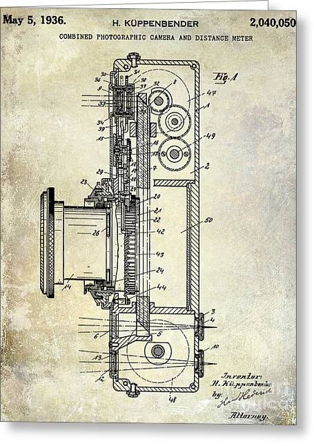 1936 Camera Patent Greeting Card by Jon Neidert