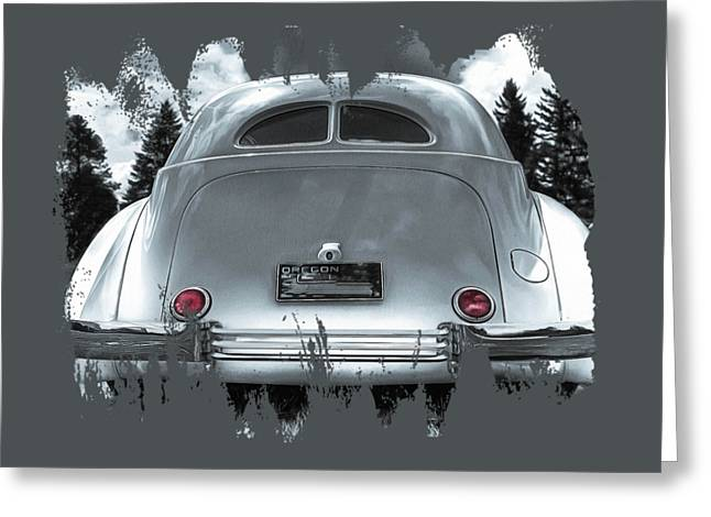 1936 Cord Automobile Rear View Greeting Card