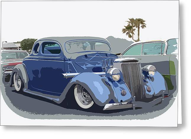 Graffitti Coupe Greeting Cards - 1936 Ford Coupe Greeting Card by Steve McKinzie