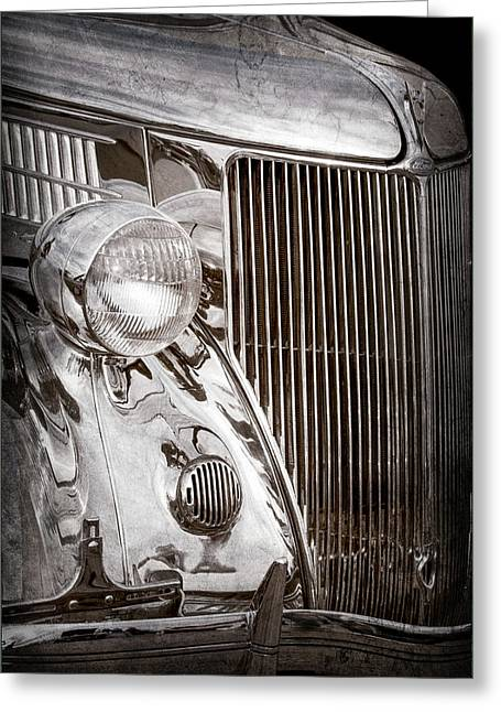 1936 Ford Stainless Steel Grille -0376ac Greeting Card