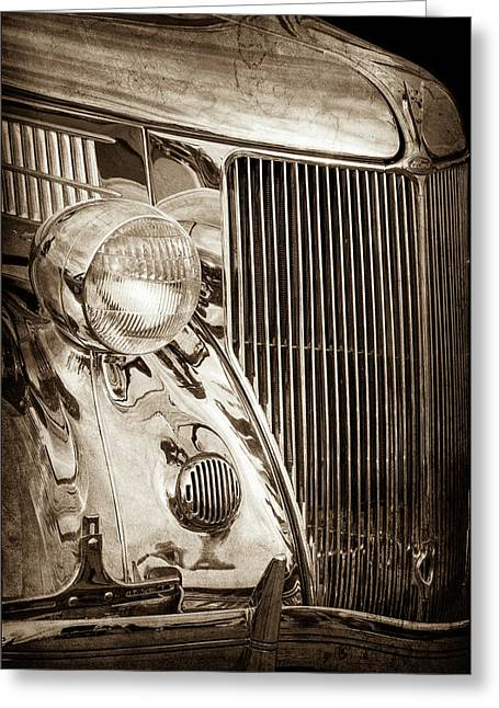 1936 Ford Stainless Steel Grille -0376s Greeting Card