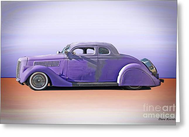 1936 Ford 'tail Dragger' Custom Coupe Greeting Card by Dave Koontz