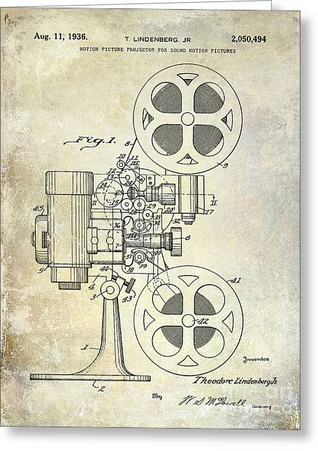 1936 Movie Projector Patent Greeting Card
