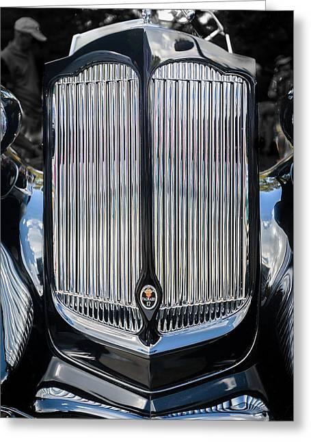 1936 Packard Twelve Tailback Speedster Greeting Card by Jack R Perry