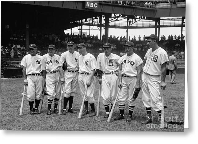 1937 All Star Baseball Players Greeting Card
