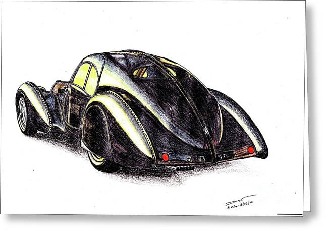 1937 Bugatti Type 57s Greeting Card by Dan Poll