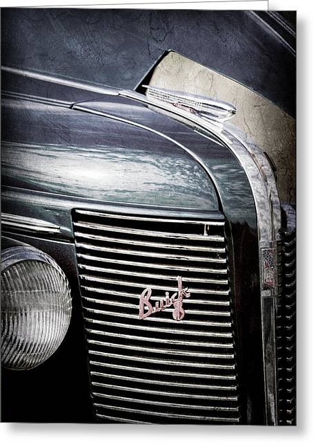 1937 Buick Grille Emblem -0207ac Greeting Card