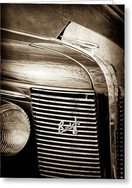 1937 Buick Grille Emblem -0207s Greeting Card