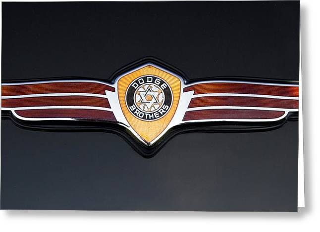 1937 Dodge Brothers Emblem Greeting Card by Roger Mullenhour