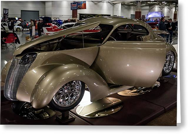 Greeting Card featuring the photograph 1937 Ford Coupe by Randy Scherkenbach