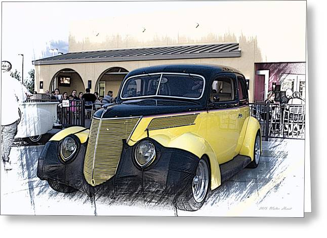 1937 Ford Deluxe Sedan_a2 Greeting Card