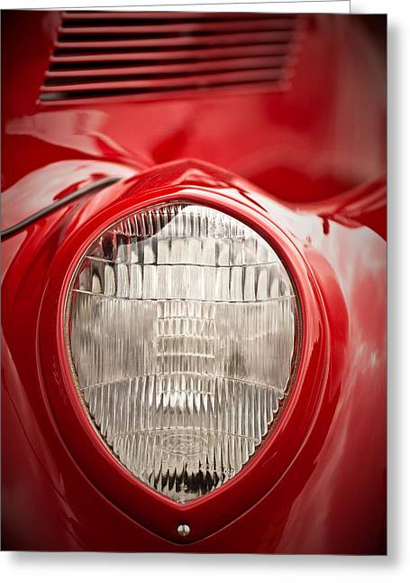 1937 Ford Headlight Detail Greeting Card