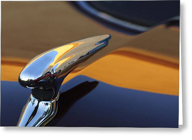 1937 Ford Hood Ornament 3 Greeting Card by Jill Reger