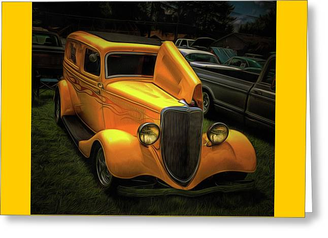 1937 Ford Panel  Greeting Card