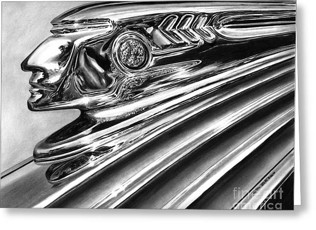 1937 Pontiac Chieftain Abstract Greeting Card
