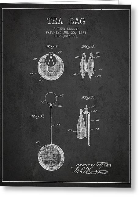1937 Tea Bag Patent 02 - Charcoal Greeting Card