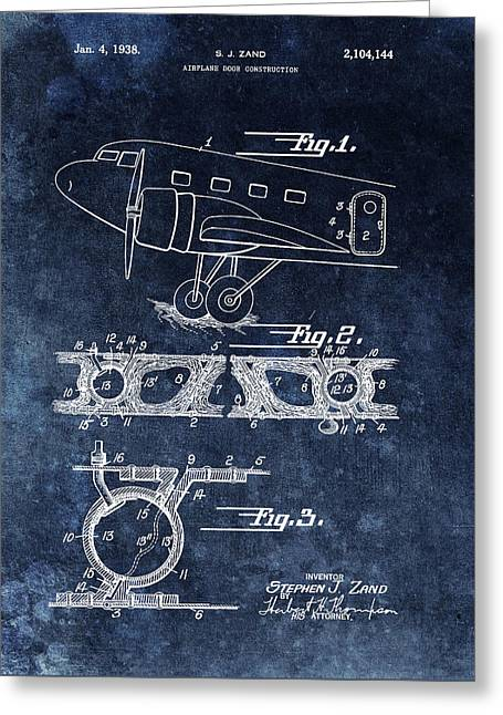 1938 Airplane Door Patent Greeting Card