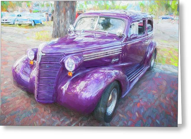 1938 Chevrolet 2 Door Sedan Deluxe C117  Greeting Card by Rich Franco