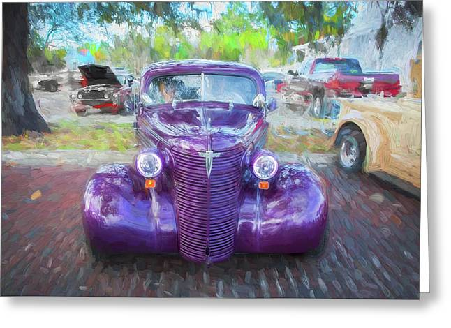 1938 Chevrolet 2 Door Sedan Deluxe C122  Greeting Card by Rich Franco