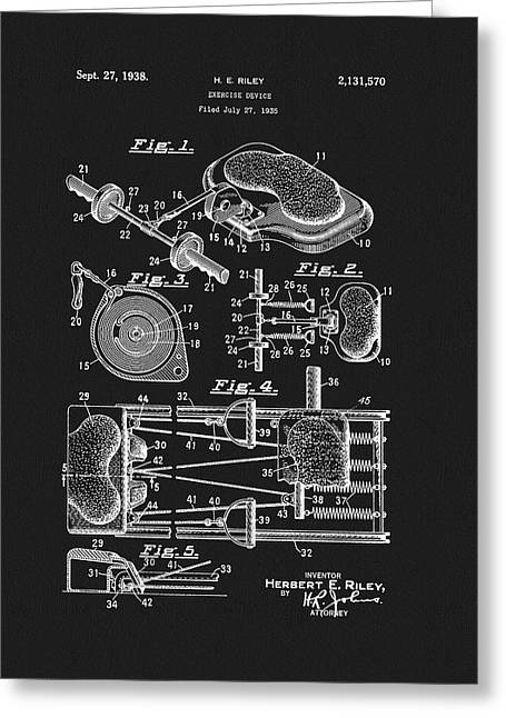 1938 Exercise Device Patent Greeting Card