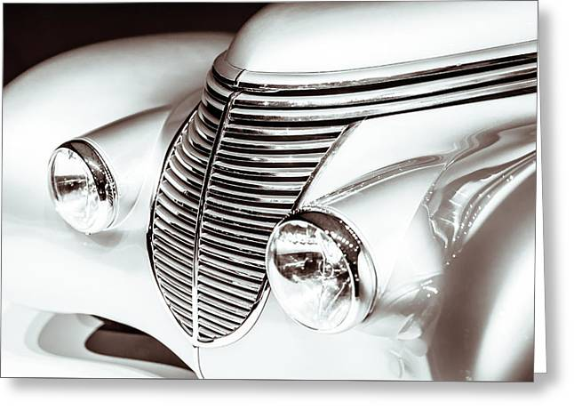 1938 Hispano-suiza H6b Xenia Front Greeting Card by Wade Brooks