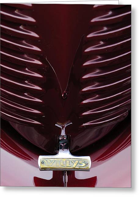1938 Willys Grille Greeting Card by Jill Reger