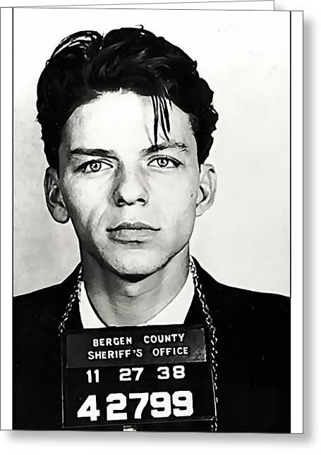 1938 Young Frank Sinatra Mugshot Greeting Card