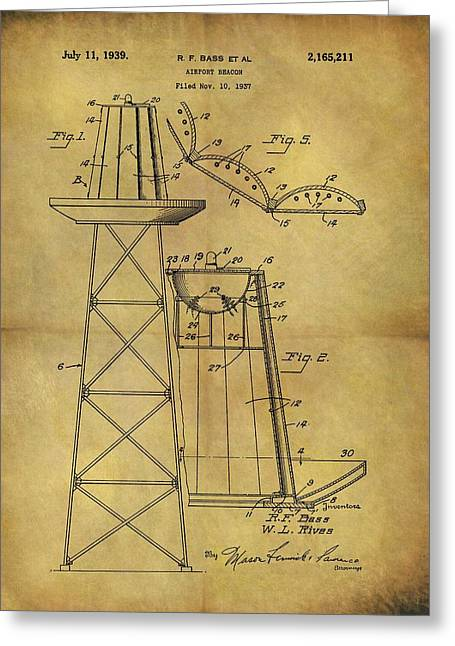 1939 Airport Beacon Patent Greeting Card