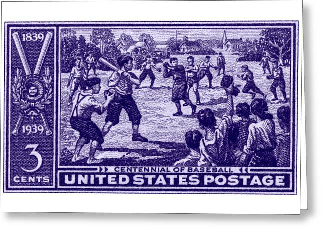 1939 Baseball Centennial Greeting Card by Historic Image
