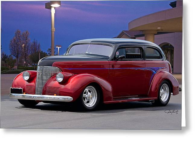 1939 Chevrolet 'custom' Sedan Greeting Card by Dave Koontz