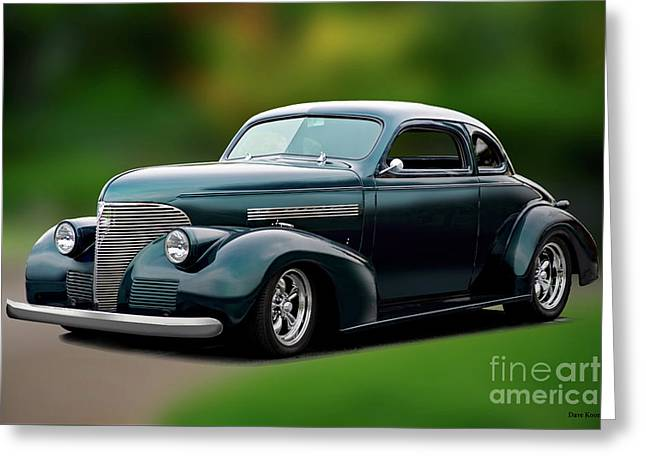 1939 Chevrolet Master Deluxe Coupe II Greeting Card by Dave Koontz