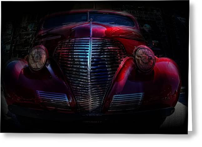 1939 In A Bubble   Chevy Car Art Greeting Card by Lesa Fine