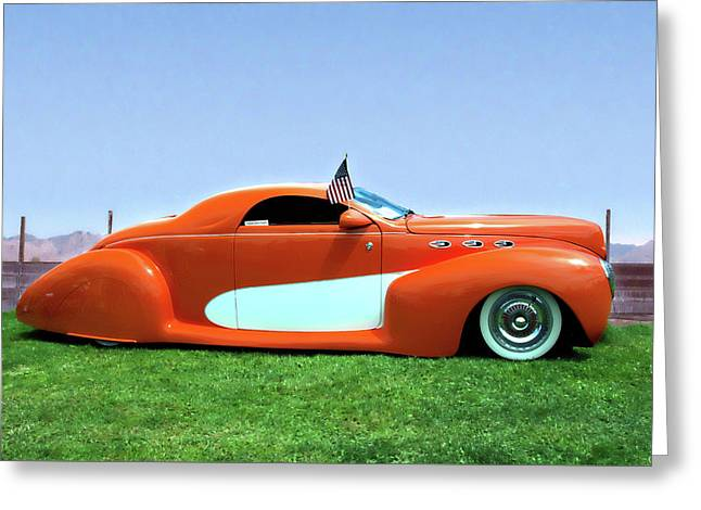 1939 Lincoln Zephyr Coupe Greeting Card