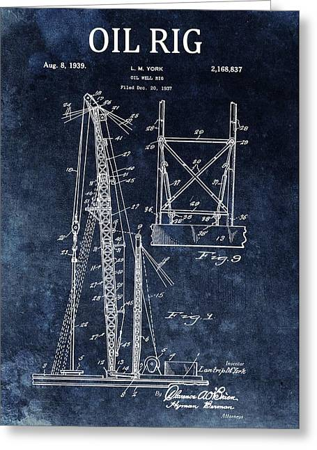 1939 Oil Rig Design Greeting Card