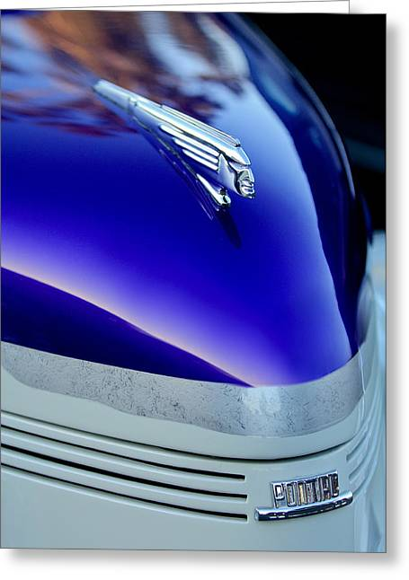 Car Mascot Greeting Cards - 1939 Pontiac Coupe Hood Ornament 3 Greeting Card by Jill Reger