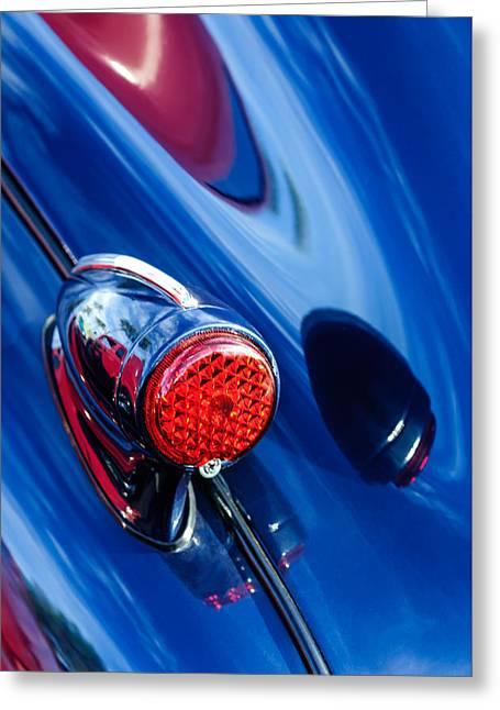 1939 Pontiac Silver Streak Taillight Greeting Card